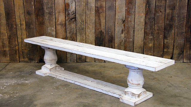 Sandy Spring Double Pedestal Bench