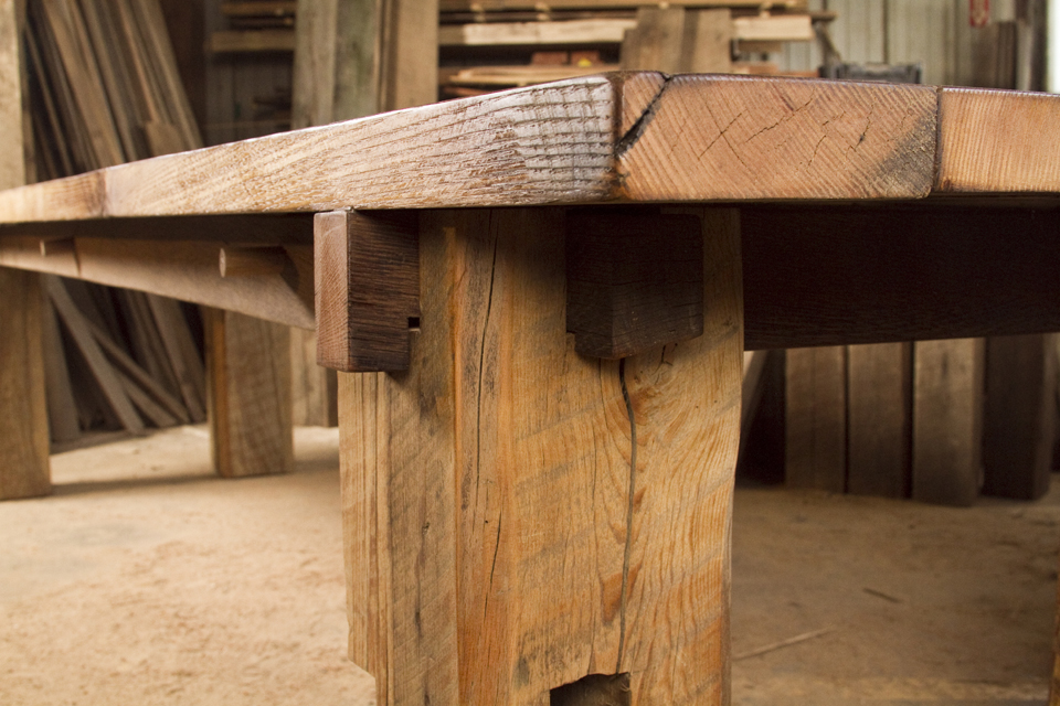 Cornerstone conference table products cornerstone for Barn wood salvage companies