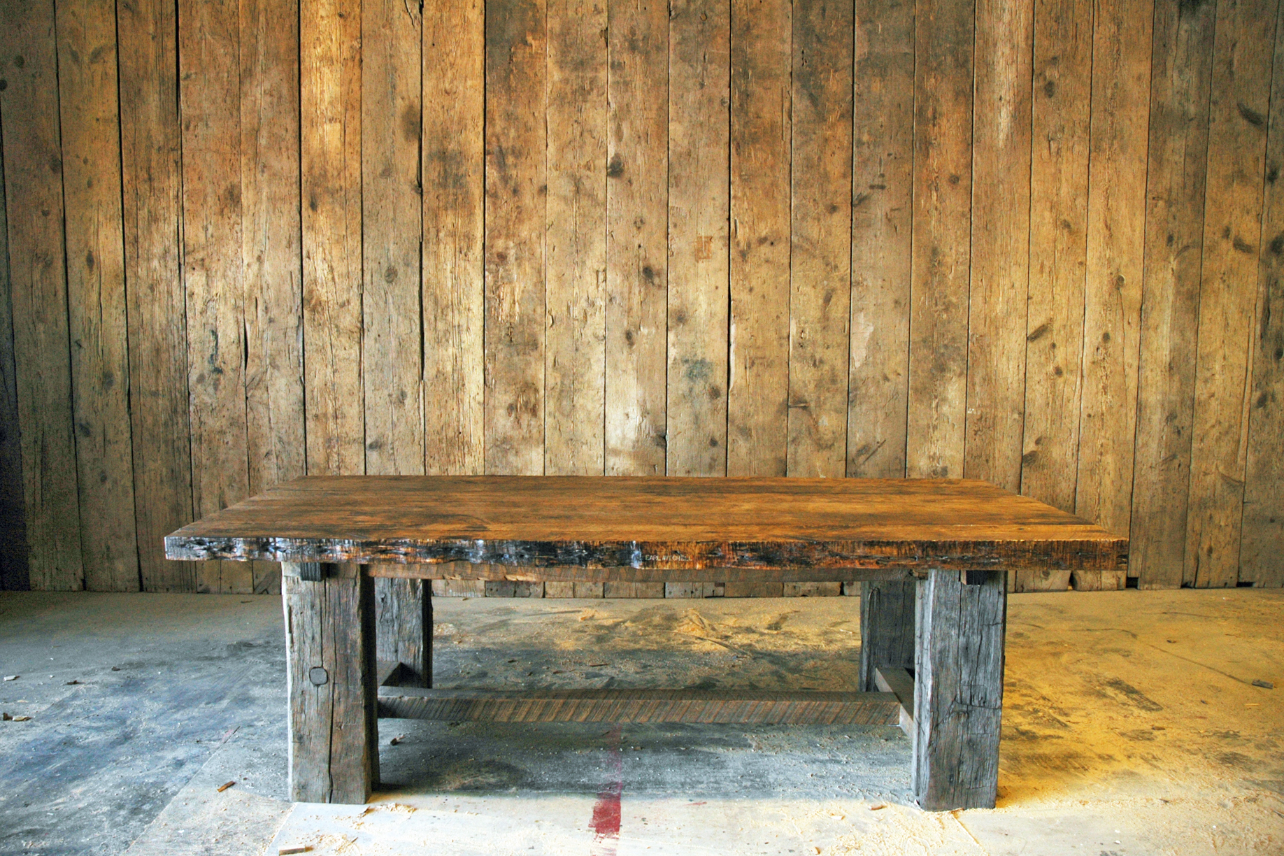 Timberlake dining table products timberlake dining for Barn wood salvage companies